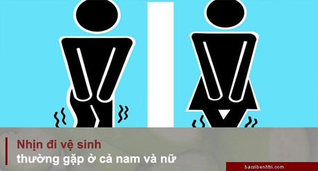 nhịn đi vệ sinh dễ bị trĩ