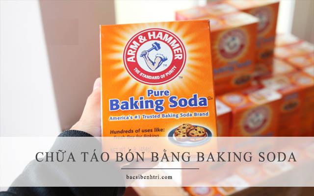 chữa táo bón cho bé bằng bột baking soda