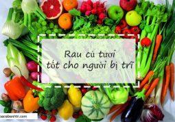 Người bị nhiễm trùng búi trĩ nên ăn nhiều rau củ tươi