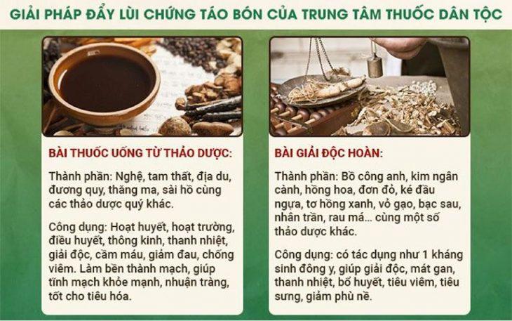 Bài thuốc chữa táo bón từ Đông y của Trung tâm Thuốc dân tộc