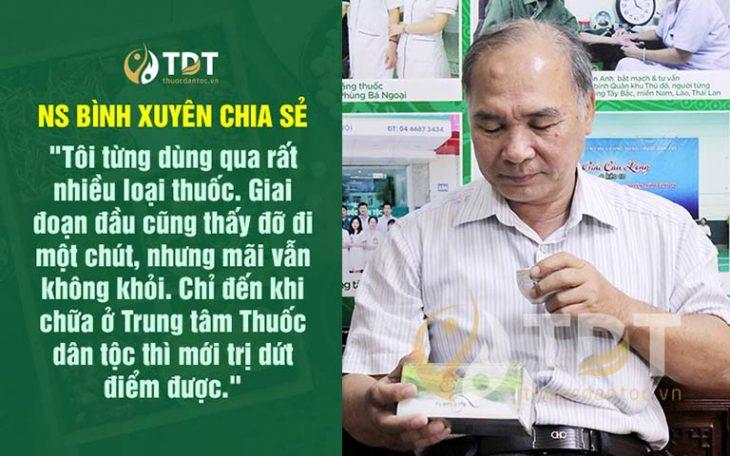 Nghệ sĩ Bình Xuyên chia sẻ kết quả điều trị bằng Thăng trĩ Dưỡng huyết thang