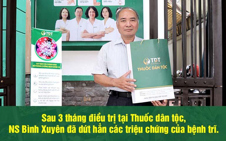 Nghệ sĩ Bình Xuyên thoát khỏi bệnh trĩ sau 3 tháng dùng thuốc tại Thuốc dân tộc