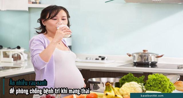 phòng tránh bệnh trĩ khi mang thai