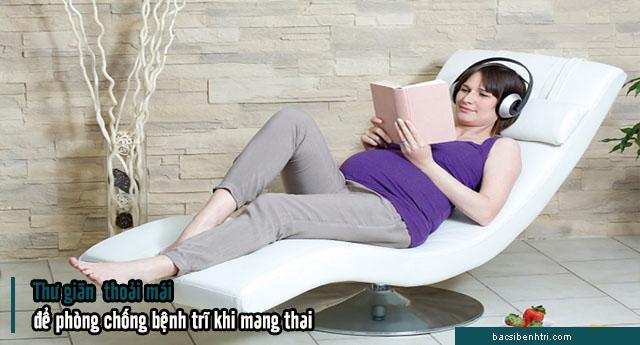 phòng bệnh trĩ khi mang thai