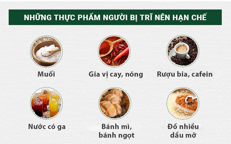Hạn chế những thức ăn nói trên để tránh làm bệnh diễn tiến nặng thêm