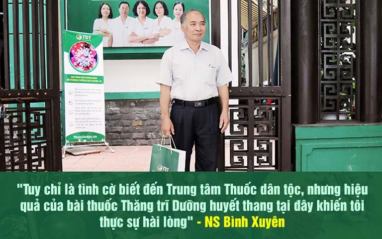 Nghệ sĩ Bình Xuyên hài lòng về kết quả điều trị bệnh trĩ tại Thuốc dân tộc