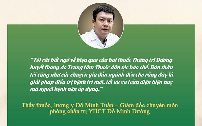 Thầy thuốc, lương y Đỗ Minh Đường chia sẻ về Thăng trĩ Dưỡng huyết thang